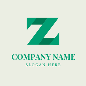 Green Letter Z logo design