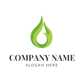 Green Oil Drop logo design