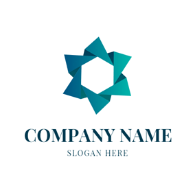 Green Paper Garland Icon logo design