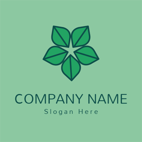 Green Pattern and Leaf logo design