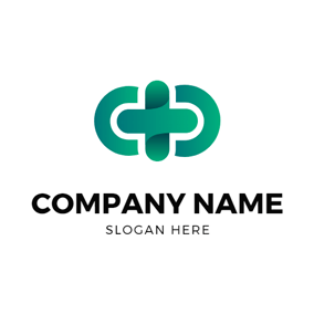 Green Pattern and Plus logo design
