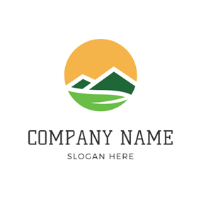Green River and Hill logo design