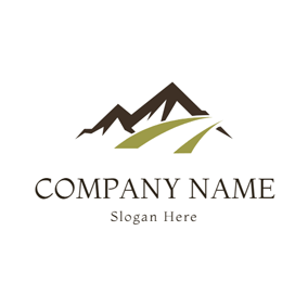Green Road and Brown Mountain logo design