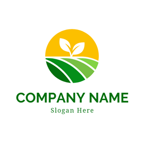 Green Sapling and Farm logo design
