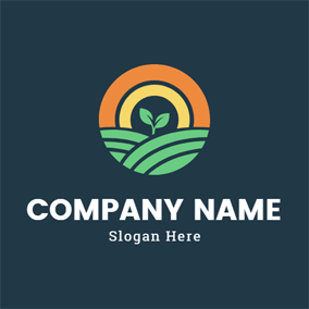 Green Sapling and Meadow logo design