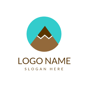 Green Semicircle and Brown Pencil logo design