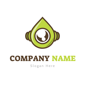 Green Shape Robot Head logo design