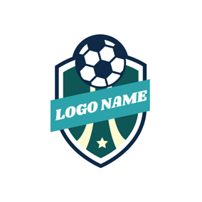 Green Shield and Football logo design