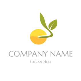 Green Sprout and Yellow Seed logo design