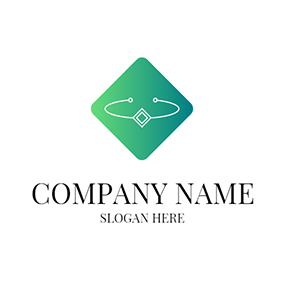 Green Square and White Bracelet logo design