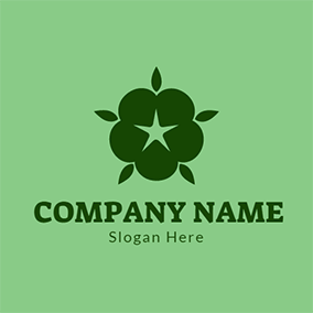 Green Star and Blue Cotton logo design