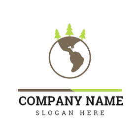 Green Tree and Brown Earth logo design