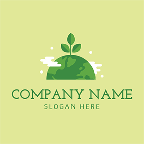 Green Tree and Energy logo design