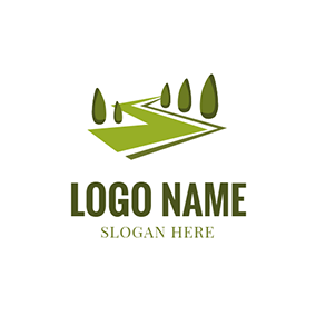Green Tree and Landscaping logo design