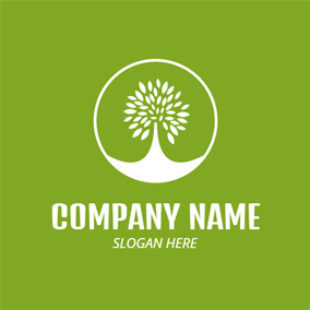 Green Tree and White Earth logo design