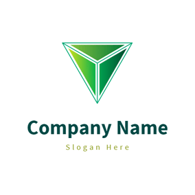 Green Triangle and Delta Symbol logo design