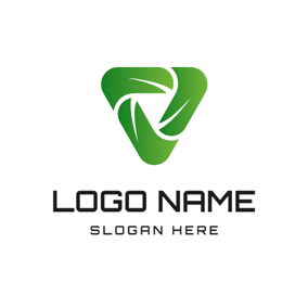 Green Triangle and Fusion logo design