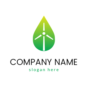 Green Wind Power logo design