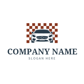 Grid Background and Car logo design