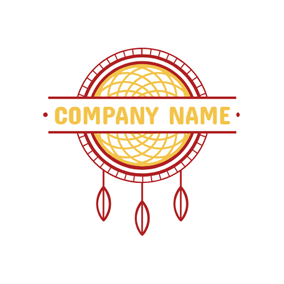 Grid Interlaced Dreamcatcher Tribal Sign logo design