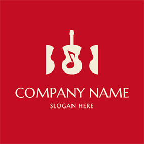 Guitar Note Simple Choir logo design