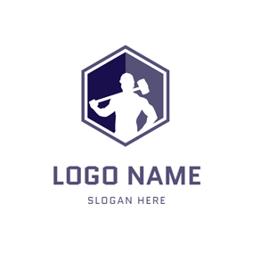 Hammer and Handyman Icon logo design
