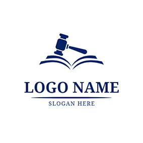 Hammer Law Book and Lawyer logo design