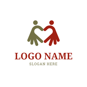 Hand and Abstract Family logo design