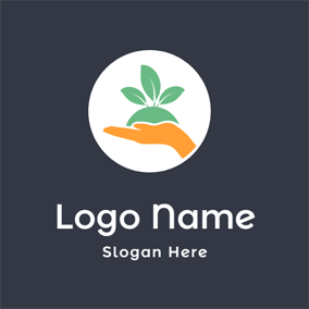 Hand and Fresh Fruit logo design