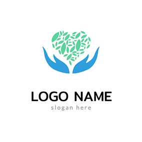 Hand and Leaves logo design