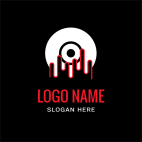 Hand and White Disc logo design