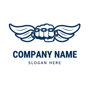 Hand and Wing Squad Logo logo design