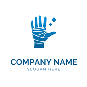 Hand Bandage Injury Healing logo design
