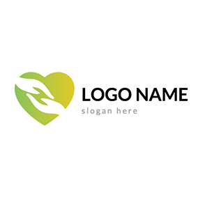 Hand In Hand Heart Donation Logo logo design