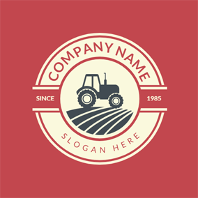 Hay Mower and Meadow logo design