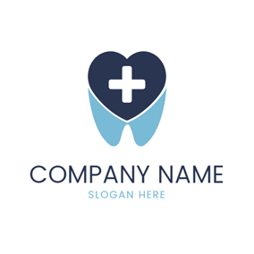 Heart and Dental Clinic logo design