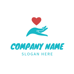 Heart and Hand Baby Care logo design