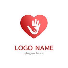 Heart and Hands Donation Logo logo design