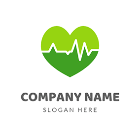 Heart and Pulse Logo logo design