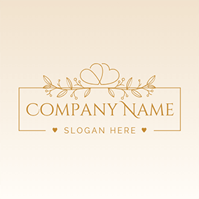 Heart Branch and Wedding logo design