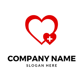 Heart Cross Hospital Healing logo design