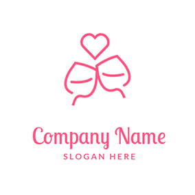 Heart Love Simple Cup Cheers logo design