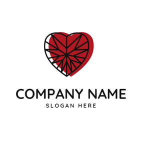 Heart Shape and Beautiful Ruby logo design