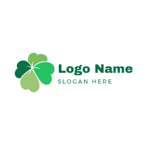 Heart Shape and Clover logo design
