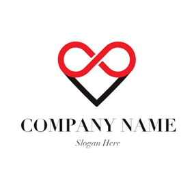 Heart Shape and Infinity logo design