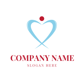 Heart Shape and Physiotherapy logo design
