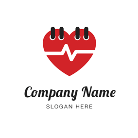 Heart Shape Calendar logo design