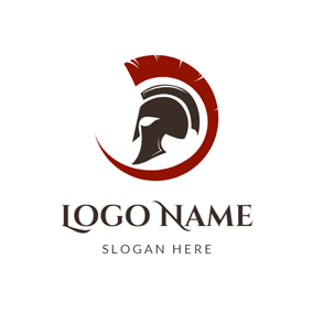 Helmet and Barbarian Knight logo design