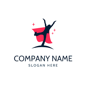 Hero Red Cloak and Dream logo design