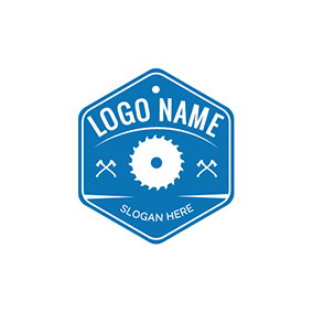 Hexagon and Felling Tools logo design